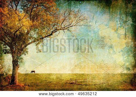 pictorial autumn landscape - artistic picture