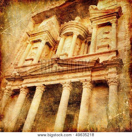 Petra - artistic vintage picture