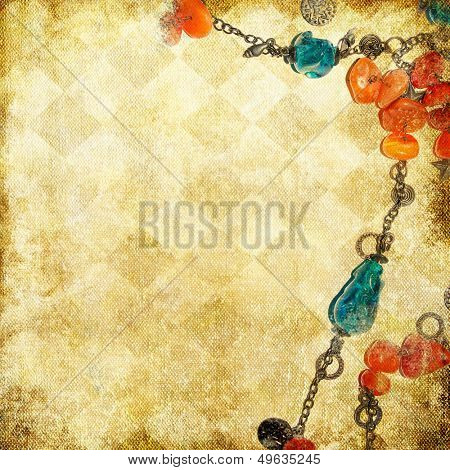 retro background with beads