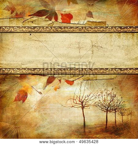vintage autumn background with place for text