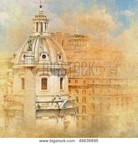 great antique Rome - artwork in retro style series