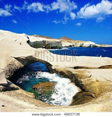 amazing Greece series - Milos island, rocky cave