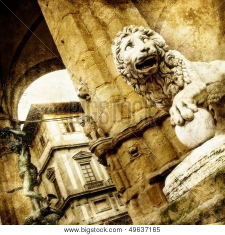 Italian sculpture - Florence,artistic toned picture