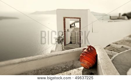 romantic holidays - amazing Santorini . artistic toned picture