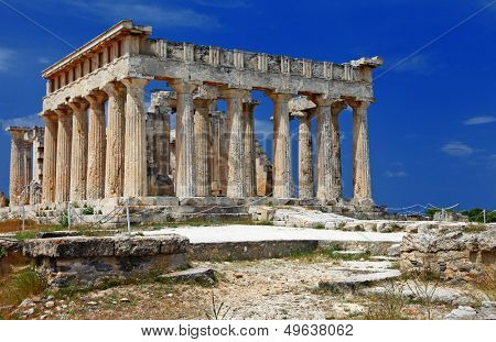 temple of Orfeas in Aegina island, the prototipe of Acropolis