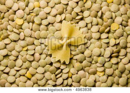Noodle And Lentils