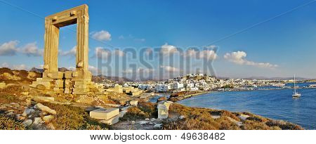 travel in Greek islands series - Naxos, panorama