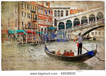 beautiful Venice - artwork in painting style