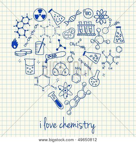 Chemistry Drawings In Heart Shape