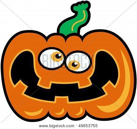Verrückter Halloween-Kürbis