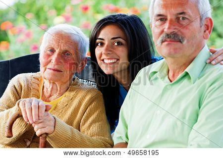 Nurse With Seniors