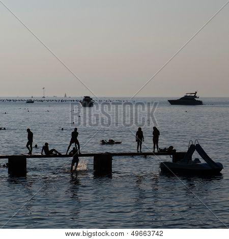 Beach Scene In Istria