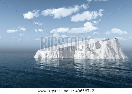 The big iceberg  on the open ocean