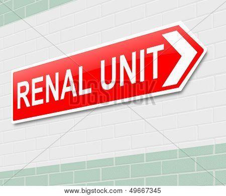 Renal Unit Sign.