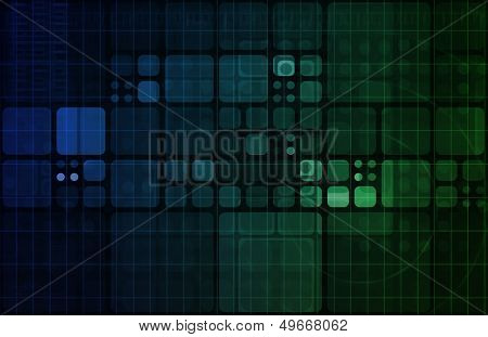 Technology Abstract with Futuristic Lines and Data