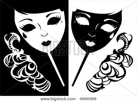 Two Masks For A Masquerade.