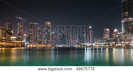 DUBAI, UAE - OCTOBER 23: A record-setting fountain system set on Burj Khalifa Lake, it shoots water 150 m into the air, at October 23, 2012 in Dubai, United Arab Emirate