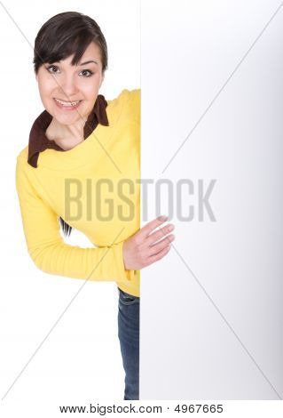 Woman With Board