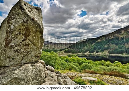 Bruce's stone above Loch Trool