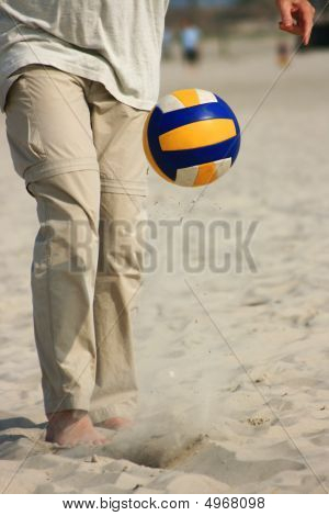 Ball Sport On Beach