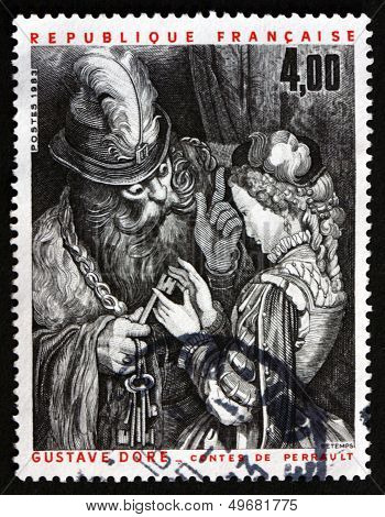 Postage Stamp France 1983 Illustration From Perrault's Folk Tales