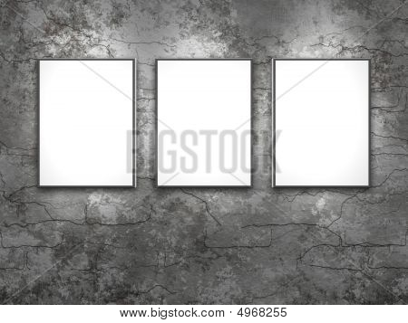 Three White Frames