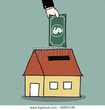 House Piggy Bank