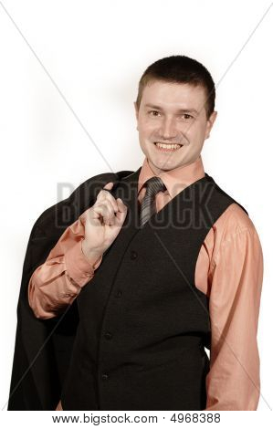 Businessman In West