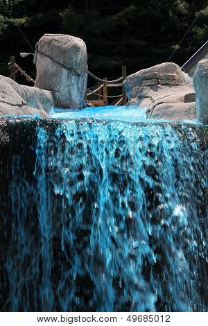 Blue Fountain Gushing