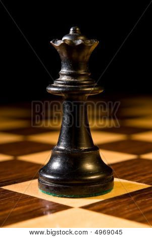 Chess Queen As Leader On Chess Board