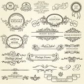 foto of calligraphy  - Set of Design Elements - JPG