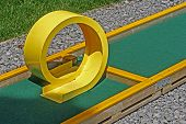 image of miniature golf  - Small golf course built for children in a recreational space - JPG
