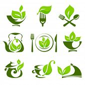 stock photo of kettling  - Organic food design elements - JPG