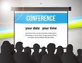 pic of audience  - Conference tamplate illustration with space for your texts - JPG