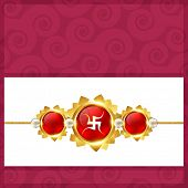 stock photo of rakshabandhan  - vector stylish rakshabandhan background design - JPG