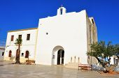 View of Sant Francesc Xavier Church in Sant Francesc de Formentera, Balearic Islands, Spain