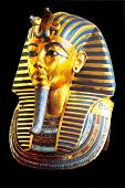 picture of pharaoh  - golden mask of egyptian pharaoh - JPG