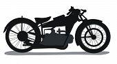 Motorbike Silhouette poster