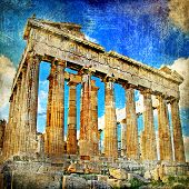 ancient Acropolis - artistic retro styled picture