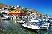 stock photo of hydra  - pictorial ports of Greek islands  - JPG