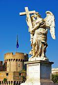 greatest Roman landmarks -bridge with angels poster