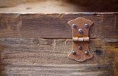 Old rusty hinge