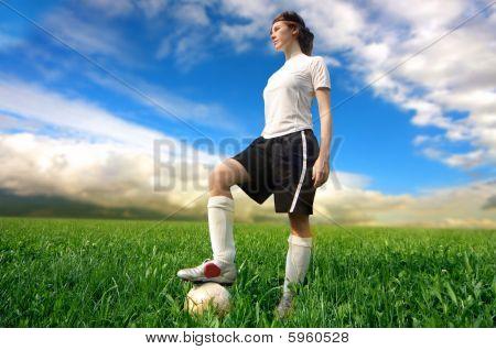 Senhora de futebol