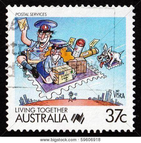 Postage Stamp Australia 1988 Postal Services, Living Together