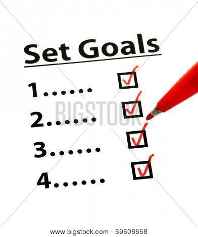 Set Goal with check box