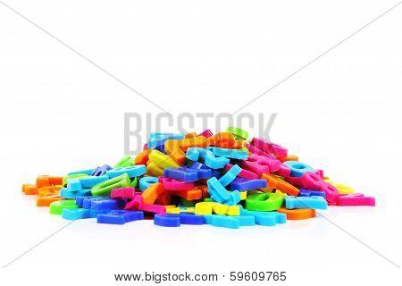 Color Plastic Letters