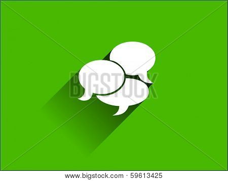 Flat long shadow icon of a communication
