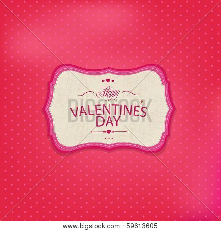 Pink Valentine's Day Card