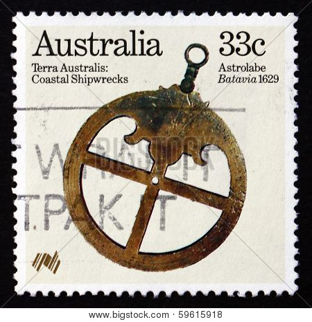 Postage Stamp Australia 1985 Astrolabe From Batavia, 1629