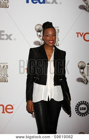 LOS ANGELES - FEB 8:  Aisha Tyler at the 2014 NAACP Image Awards Nominees Luncheon at Loews Hollywood Hotel on February 8, 2014 in Los Angeles, CA